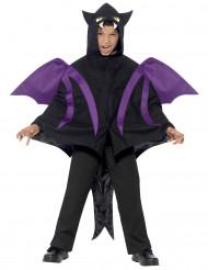 Disfarce morcego menino Halloween