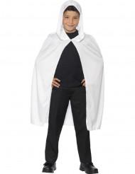 Capa com capuz branca criança Halloween