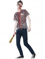Disfarce zumbi jogador de baseball adolescente Halloween