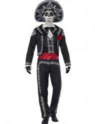Disfarce esqueleto mexicano Dia de los muertos