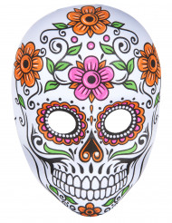 Máscara esqueleto colorido adulto Halloween