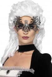 Mascarilha teia de aranha com brilhantes falsos adulto Halloween