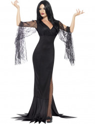 Disfarce bruxa com renda preta mulher Halloween