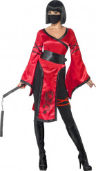Disfarce de guerreira ninja para mulher