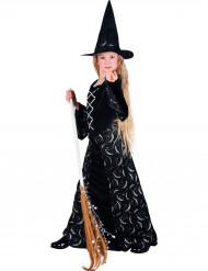Disfarce bruxa meia-lua menina Halloween