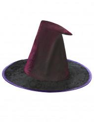 Chapéu teia de aranha violeta mulher Halloween