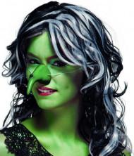 Nariz verde bruxa adulto Halloween
