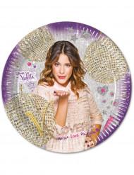 8 Pratos de cartão Violetta™