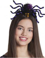 Bandolete aranha lilás mulher Halloween