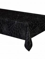 Toalha de plástico preta teia de aranha