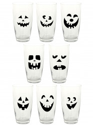 16 adesivos para copos Halloween