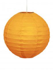 Lanterna de papel cor de laranja abóbora