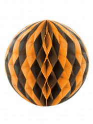 Bola de papel preta e cor de laranja Halloween