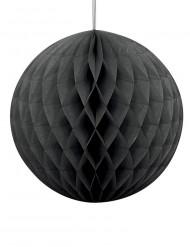Bola de papel preta Halloween