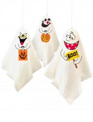 3 Decorações para pendurar Fantasmas Halloween
