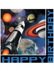 16 Guardanapos de papel Aniversário do espaço 33 x 33 cm