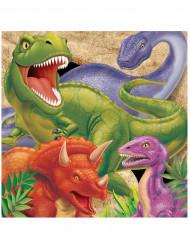 16 Guardanapos de papel aniversário Dinossauros