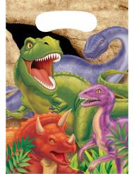 8 Sacos de festa aniversário Dinossauros