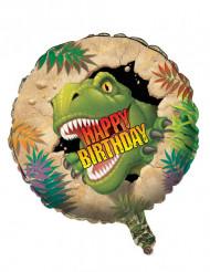 Balão alumínio Aniversário Dinossauro 46 cm