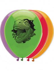 6 Balões aniversário Dinossauros 30 cm
