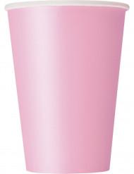 10 Copos de cartão cor-de-rosa claro 355 ml