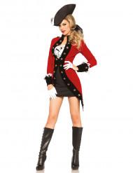 Disfarce pirata revolucionária - mulher