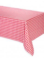 Toalha de mesa em plástico vichy vermelho 137 x 274 cm