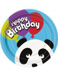 8 pratos aniversário Panda
