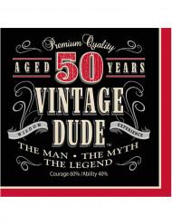 16 Guardanapos de papel Vintage 50 anos 33 x 33 cm