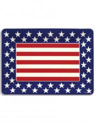 Bandeja plástico estrelas USA