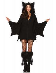 Disfarce morcego mulher para Halloween