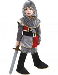 Disfarce pequeno cavaleiro menino