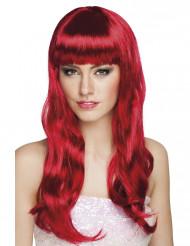 Peruca comprida cor vermelha mulher