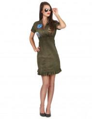 Disfarce Luxo vestido Top Gun™ com óculos mulher