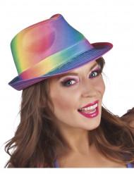 Chapéu borsalino arco-íris adulto