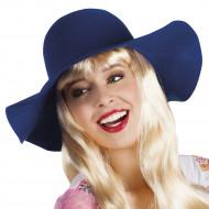 Chapéu de verão azul mulher