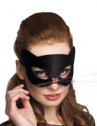 Máscara gatinha com nariz coração mulher