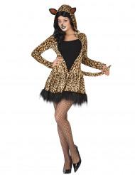 Disfarce de leopardo para mulher