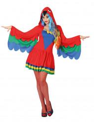 Disfarce papagaio mulher