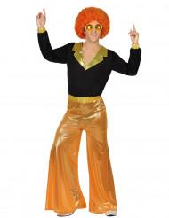 Disfarce disco cor de laranja homem