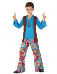 Disfarce hippie azul menino