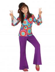 Disfarce hippie menina