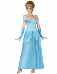 Disfarce princesa azul mulher