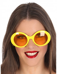 Oculos hippie amarelos
