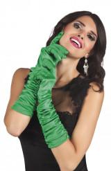 Luvas compridas verdes mulher