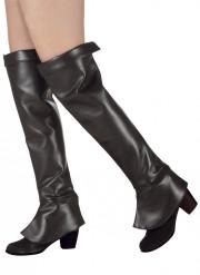 Cobre botas preto mulher