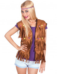Gillet hippie para mulher