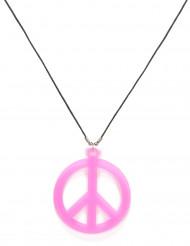 Colar rosa hippie para adulto