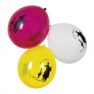 6 Balões Faroeste 25 cm