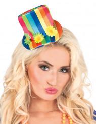 Mini-chapéu alto colorido mulher